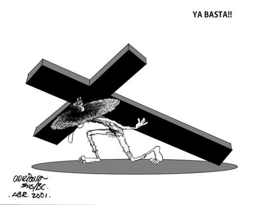 La cruz...