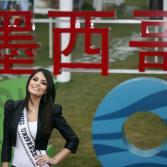 Miss Universo Ximena Navarrete en Expo China