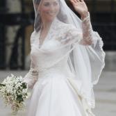 Los detalles del vestido de la novia