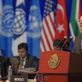 Intercambian ideas en Cumbre G20 en Los Cabos