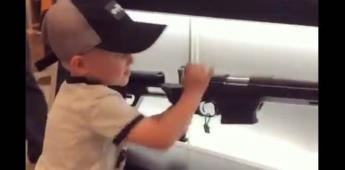 Reviven en redes video de niño estadounidense con un rifle
