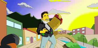 Rinden homenaje al estilo  Simpson  a Celso Piña