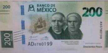 Confirman fuentes bancarias el nuevo billete de $200