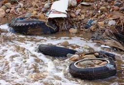 Un total de 4200 automóviles cayeron en el mar de Georgia