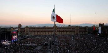 Llega AMLO a Palacio Nacional para encabezar festejos patrios