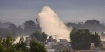 Reportan fuga de gas por toma clandestina en Acolman