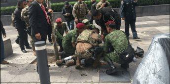 VIDEO|Captan momento de la caída del paracaidista en desfile militar