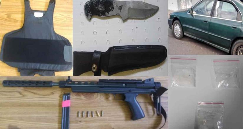 Policía Municipal apresa a cuatro con fusil y droga