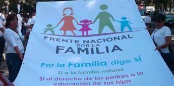 Frente Nacional por la Familia se manifiesta contra el aborto en NL