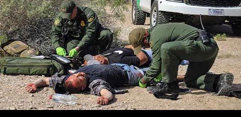 La patrulla fronteriza rescató a 22 migrantes víctimas de la lluvia y encontró un cadáver