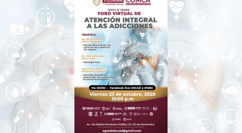 IMCAD realizará primer foro virtual de atención integral a las adicciones