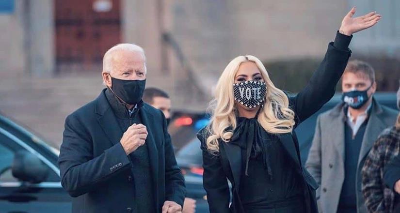 """Joe Biden cerró campaña con Lady Gaga: """"Es hora de ponernos de pie y recuperar nuestra democracia"""""""