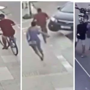 Conductor atropella a ladrón tras robarle el celular a su novia