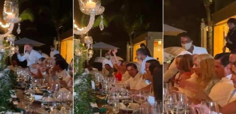Enrique Peña Nieto reaparece en boda en República Dominicana.