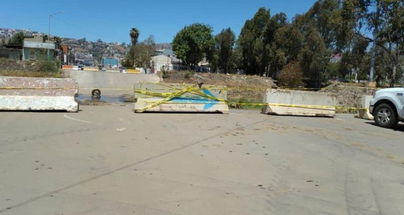 Gobierno de Ensenada cierra temporalmente el cruce del arroyo Ensenada y calle Tercera