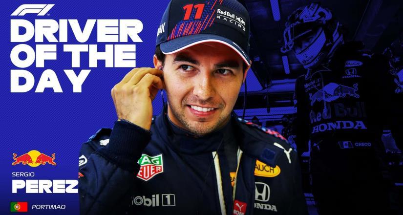 Checo Pérez fue nombrado piloto del día en Gran Premio de Portugal