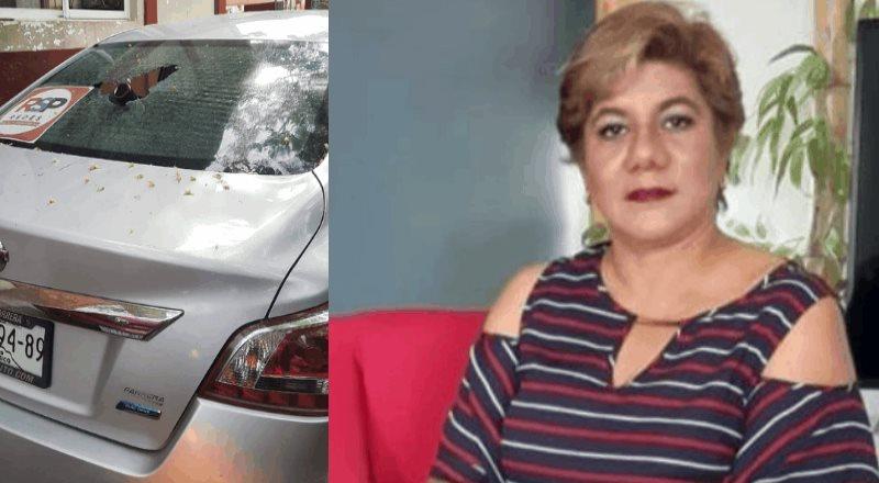 Atacan auto de candidata de Redes Sociales Progresistas en Acayucan