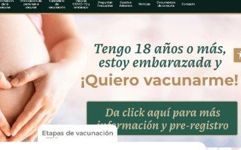 Se habilita página de registro para vacunación de mujeres embarazadas