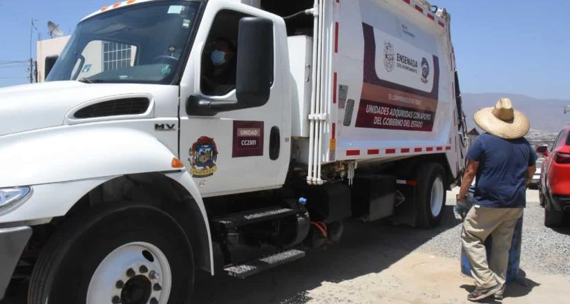 Brinda Gobierno de Ensenada servicio regular en el 97% de las rutas de recolección de basura
