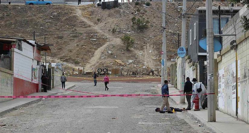 Un hombre de 40 años de edad fue asesinado recibiendo un tiro en la región cefálica