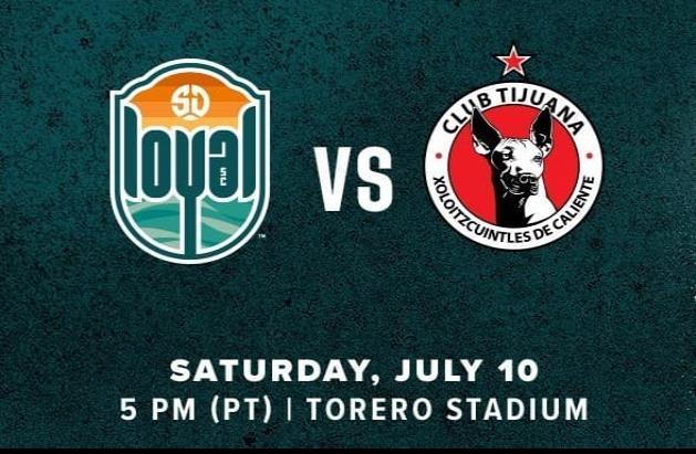 SD Loyal recibirá al Club Tijuana Xolos en un Amistoso Internacional.
