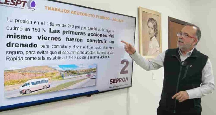 Informó SEPROA BC sobre reparación de fuga en acueducto El Florido-Aguaje de la Tuna