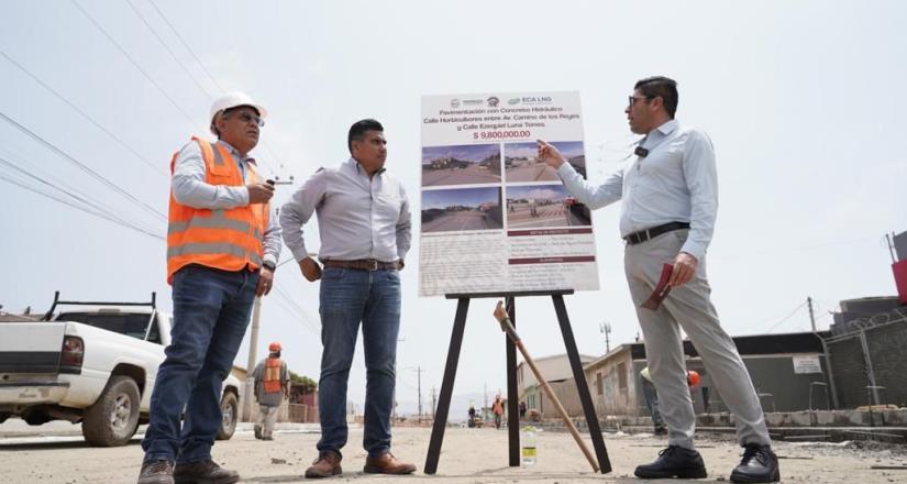 Alcanza un 40 % de avance la pavimentación de la calle Horticultores