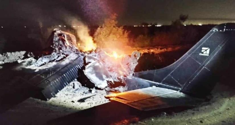 Mueren 2 personas tras desplome de aeronave en Mexicali.