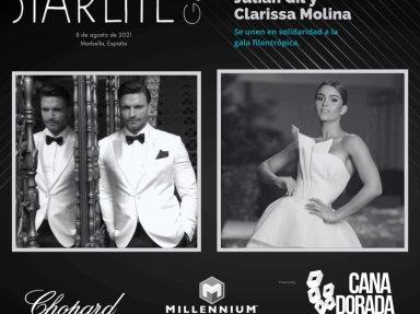 Julián Gil y Clarissa Molina se unen en solidaridad a la gala filantrópica de Starlite