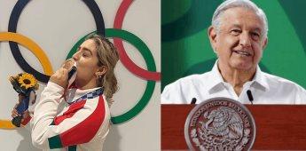 AMLO felicita a Aremi Fuentes por medalla de bronce en JO de Tokio.