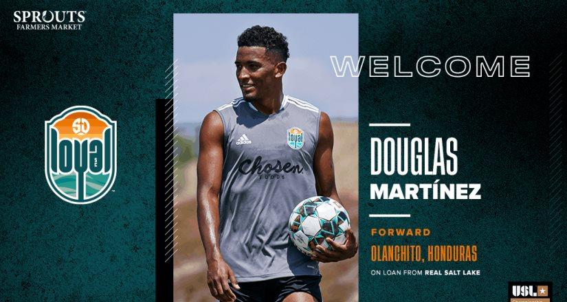SD Loyal Fichó a Douglas Martinez a Préstamos Proveniente del Club Real Salt Lake de la MLS