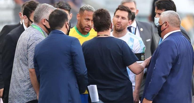 Detienen el juego Brasil contra Argentina
