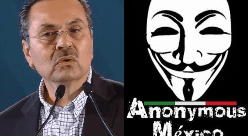 Anonymous México a través de Twitter exhibe familiares del director de PEMEX dentro de su nómina