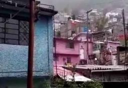 Reportan desgajamiento del Cerro del Chiquihuite en Tlalnepantla