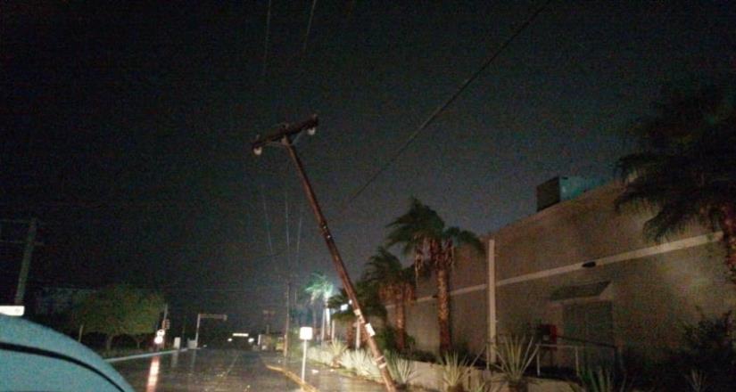 Con arduas y permanentes labores, CFE restablece el suministro eléctrico al 94% de los usuarios que resultaron afectados en el estado de baja california sur por el paso del huracán Olaf .