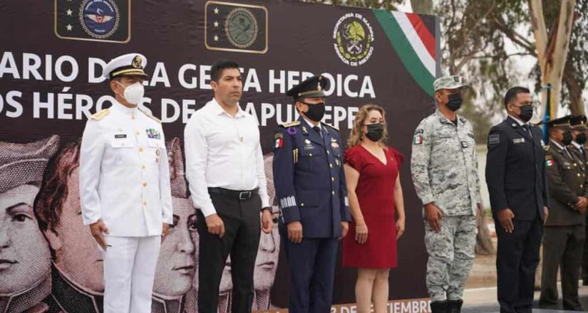 Participa Armando Ayala en 174 aniversario de la gesta heroica de los Niños Héroes