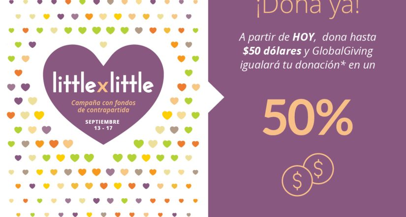 Pasitos A.C. y Globalgiving te invitan a sumarte a la campaña #LittlebyLittle