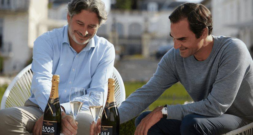 La grandeza del Champagne y de sus procesos vista a través de los ojos del triunfador Roger Federer
