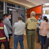 Sindicatura supervisa la rehabilitación de elevador de palacio municipal.