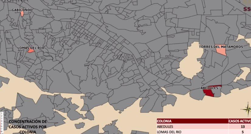 Secretaría de Salud: Colonias con casos activos de Covid-19 en Tijuana