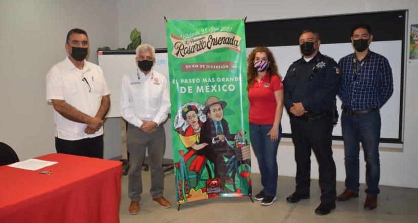 Habrá coordinación para respetar protocolos y seguridad en paseo ciclista Rosarito-Ensenada