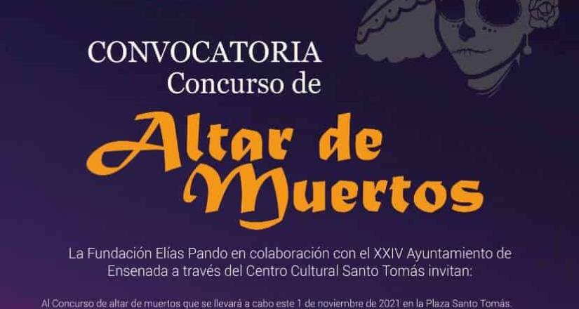 Invitan a la comunidad a participar en concurso de altares de muertos