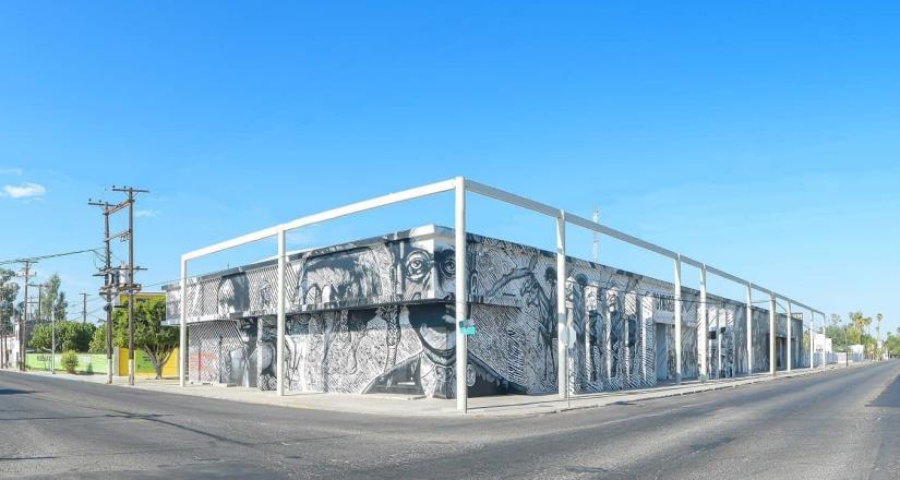 """Inauguran mural """"Las rebeliones de enero: 110 años de lucha cachanilla"""""""