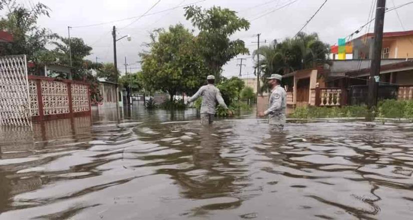 Activan Plan GN por fuertes lluvias en Lerdo de Tejada