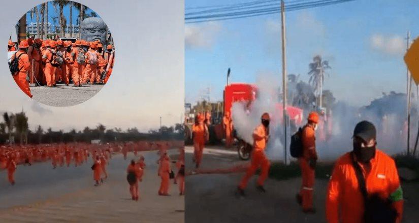 Paro de labores en Dos Bocas deja trabajadores de ICA heridos