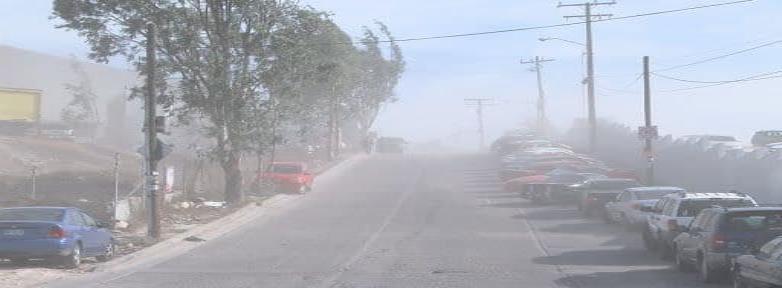 Pronósticos de vientos de Santa Ana para este jueves y viernes en Tijuana.