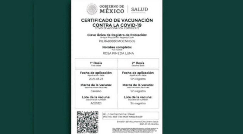 Se dan detalles respecto a los certificados de vacunación y su validez para cruzar a EE.UU.