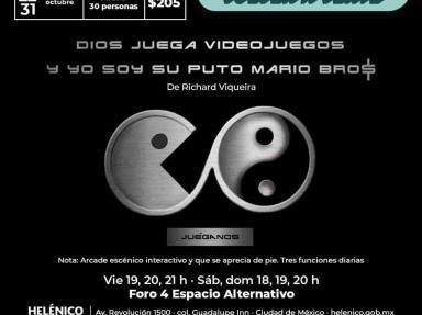 Kraken Teatro regresa al Helénico con la puesta en escena: Dios juega videojuegos y yo soy su puto Mario Bro$, de Richard Viqueira