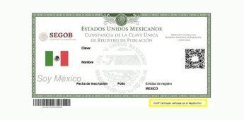 CURP Certificada: Nueva actualización