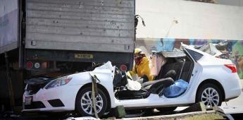 Aparatoso accidente por El Seminario deja a una joven en estado crítico